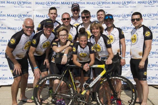 Fondation Make-a-Wish Québec-Défi véloton 48h-Équipe Nutrigroupe division Nutri-Oeufs