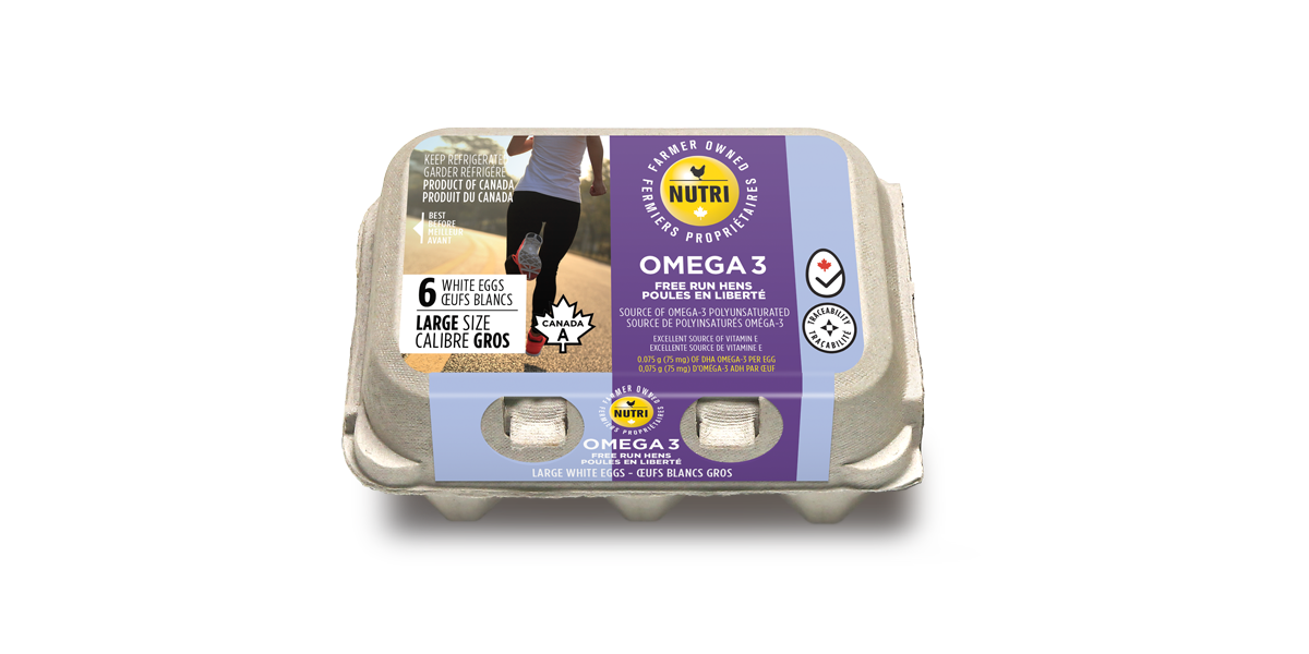 Omega 3 Free Run Hens Large White Eggs