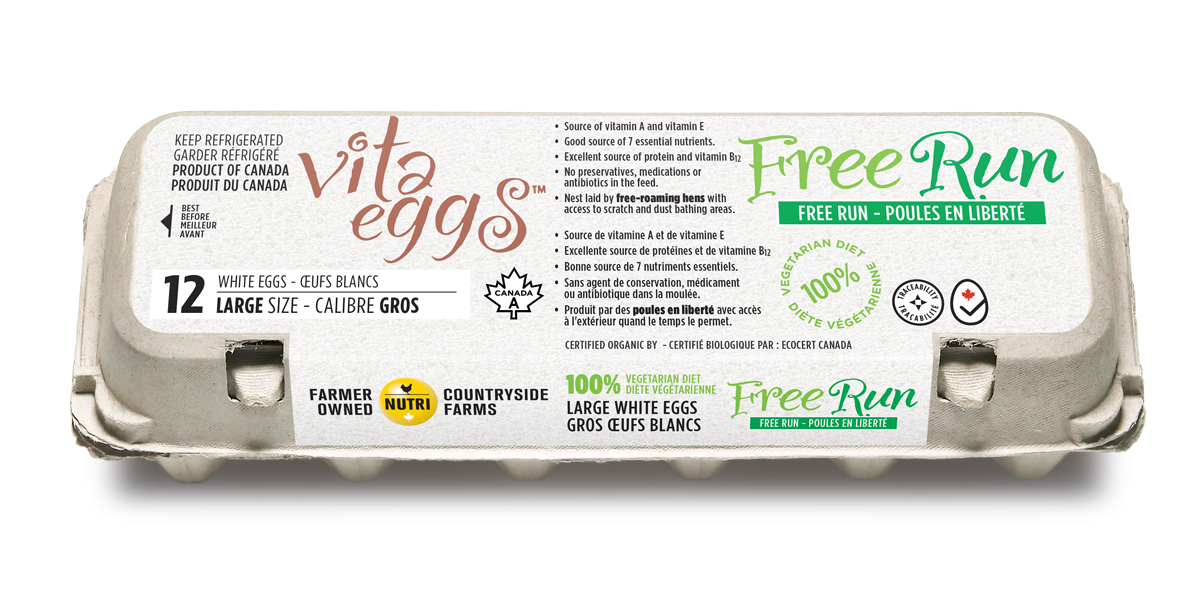 Free Run Hens Large White Eggs