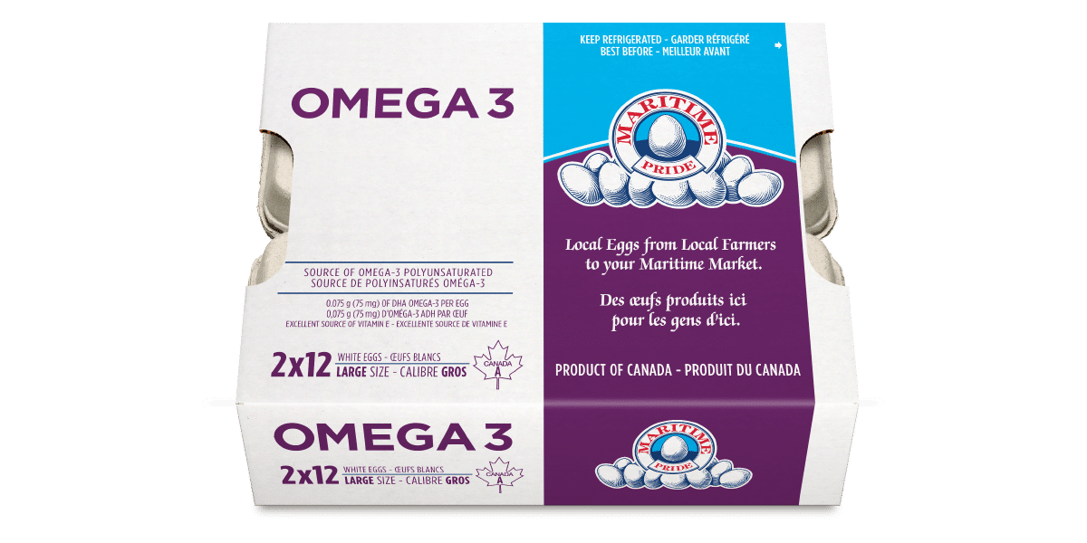 Omega 3 Large White Eggs
